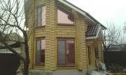 Окна WDS (ламинация - золотой дуб) в с.Каневском в деревянном срубе