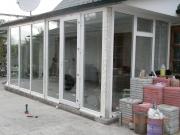 Пристройка (вход в частный дом) из пластиковых окон