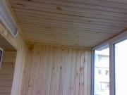 Балкон под ключ Харьков. Внутренняя обшивка деревянной вагонкой